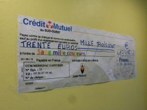 affiche du chèque concert